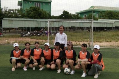 Giải bóng đá mini nữ do Liên đoàn lao động huyện Đại Lộc tổ chức để chào mừng ngày phụ nữ Việt Nam 20/10